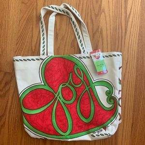 Love & Joy Canvas Tote